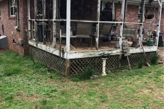 Screened in porch repair (before)